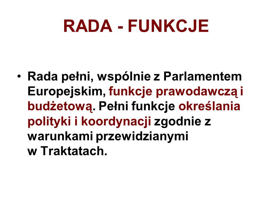RADA - FUNKCJE