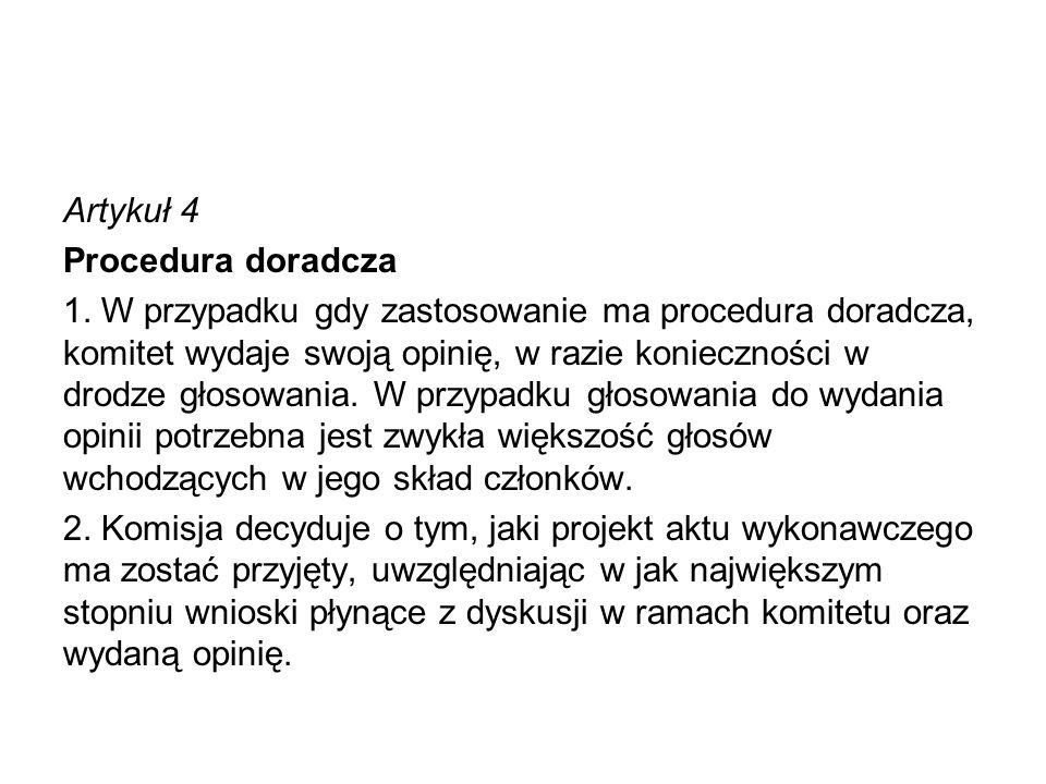 Artykuł 4 Procedura doradcza 1
