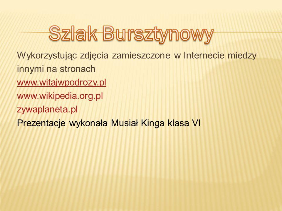 Szlak Bursztynowy Wykorzystując zdjęcia zamieszczone w Internecie miedzy. innymi na stronach. www.witajwpodrozy.pl.