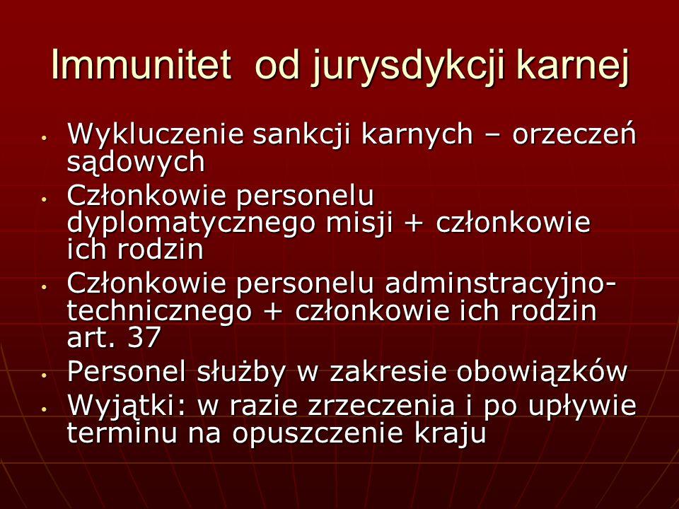 Immunitet od jurysdykcji karnej