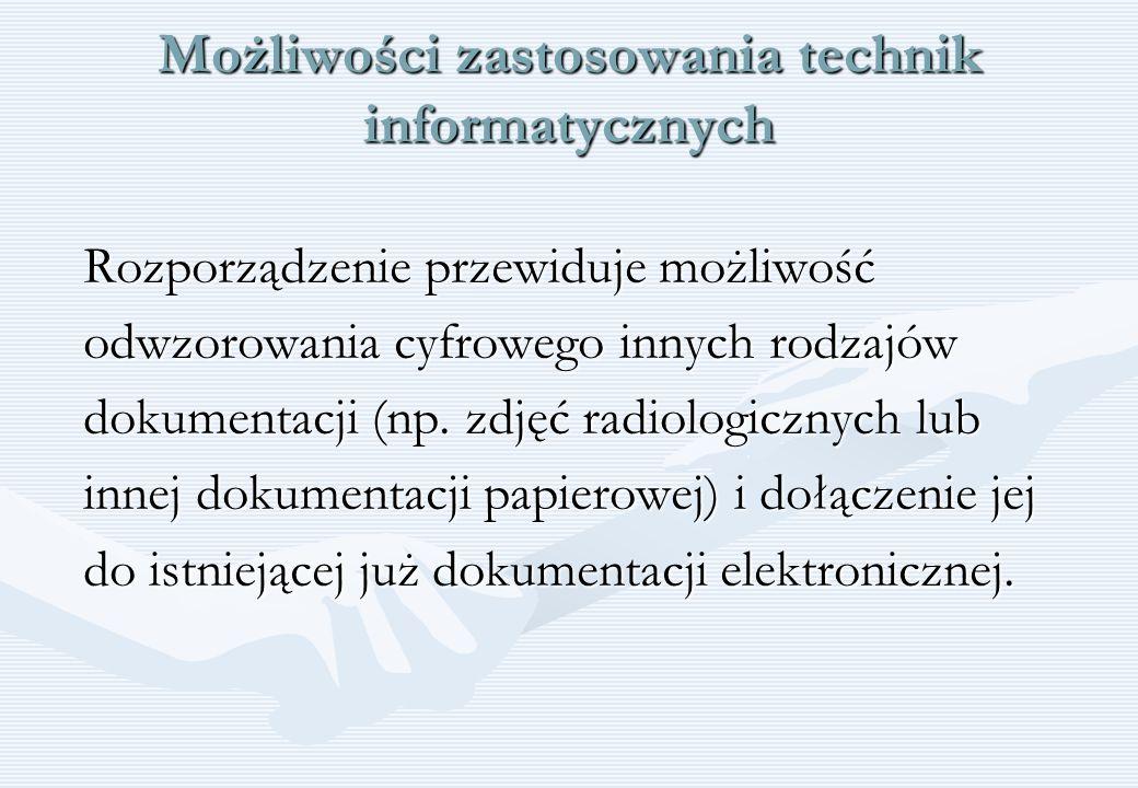Możliwości zastosowania technik informatycznych