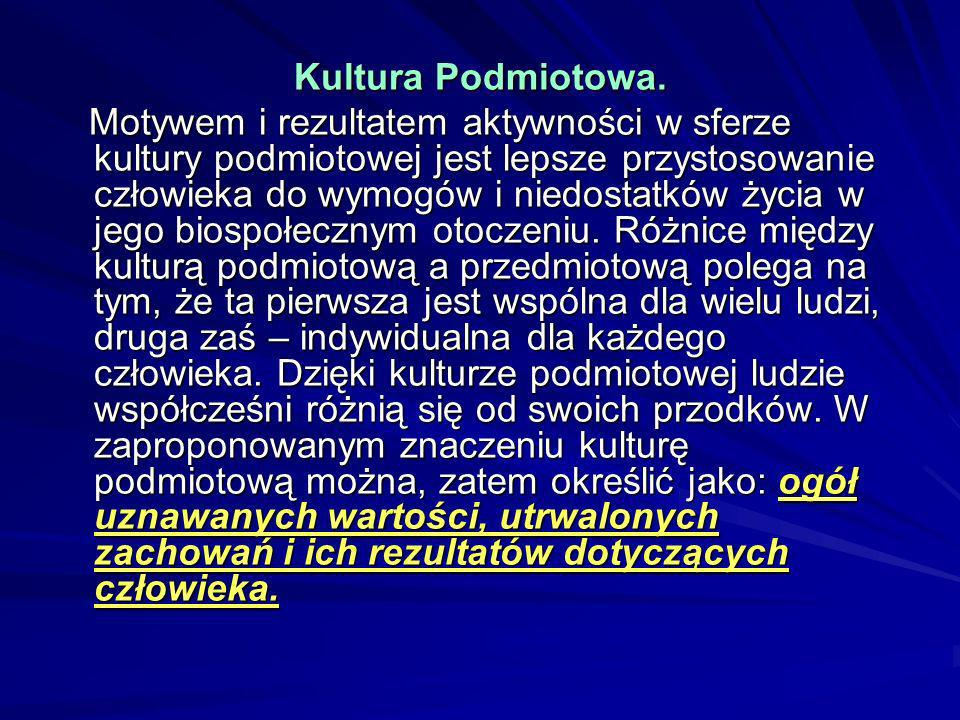 Kultura Podmiotowa.