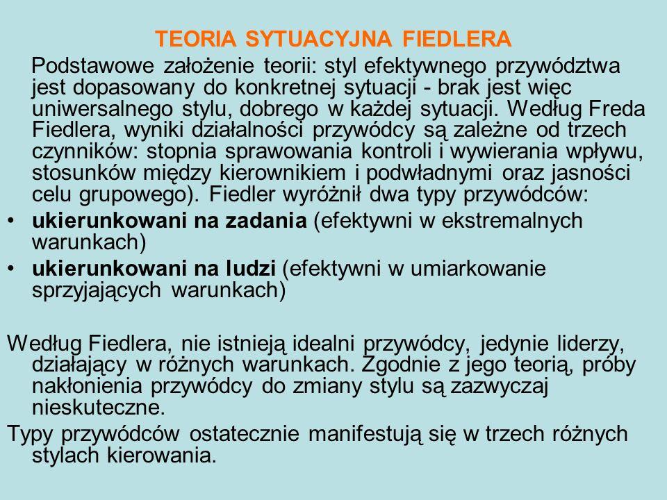TEORIA SYTUACYJNA FIEDLERA