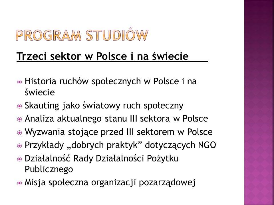 Program studiów Trzeci sektor w Polsce i na świecie