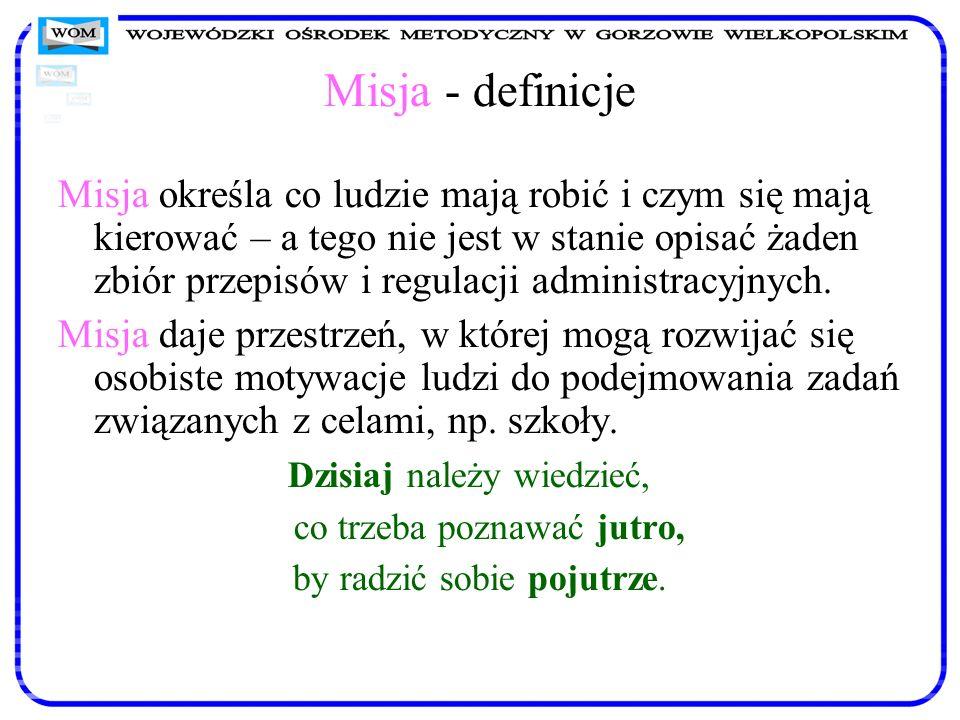 Misja - definicje