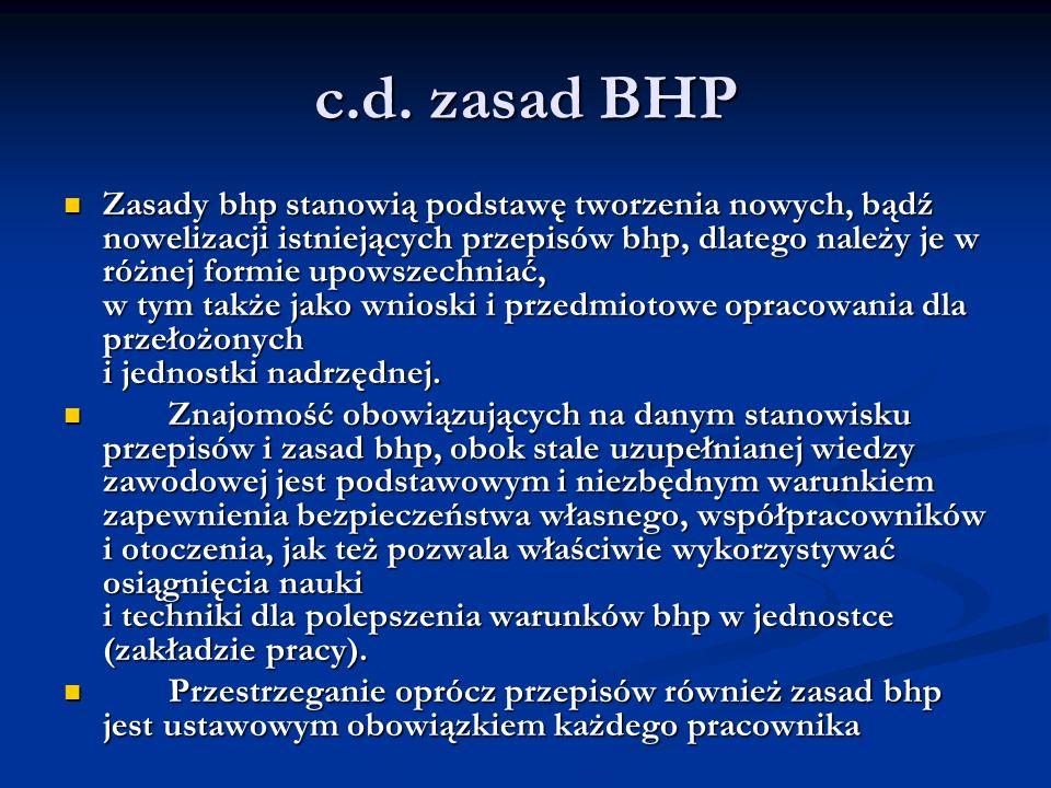 c.d. zasad BHP