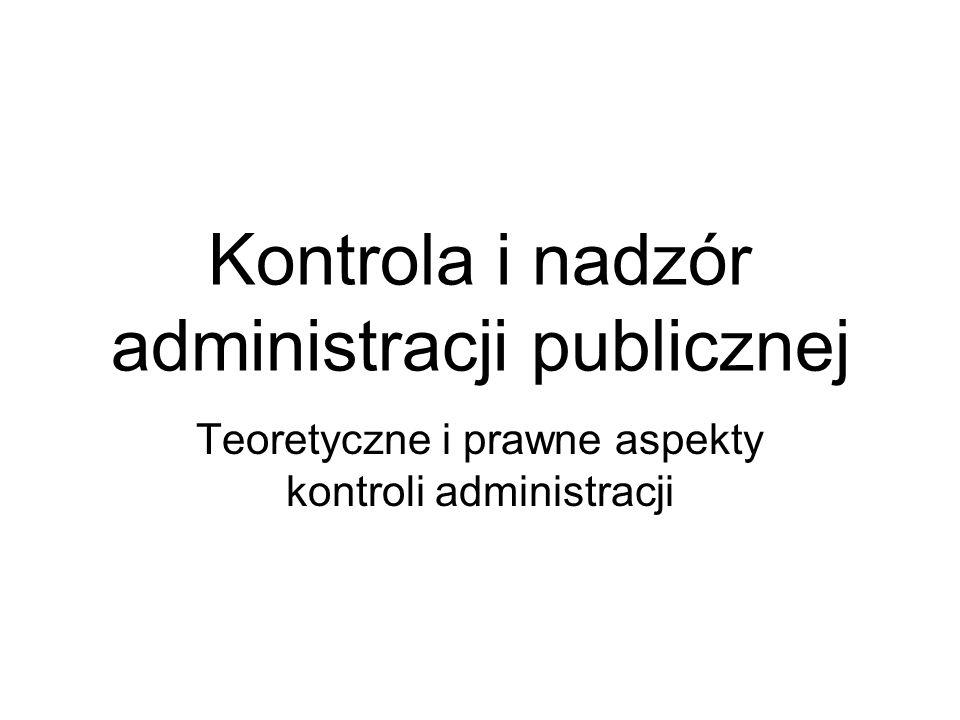 Kontrola i nadzór administracji publicznej