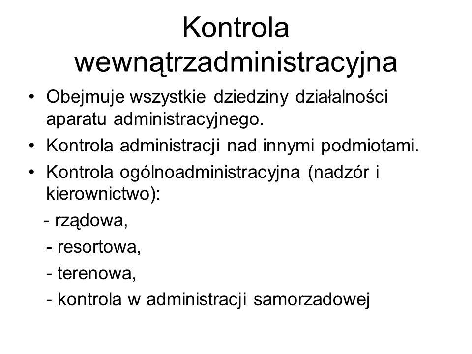 Kontrola wewnątrzadministracyjna