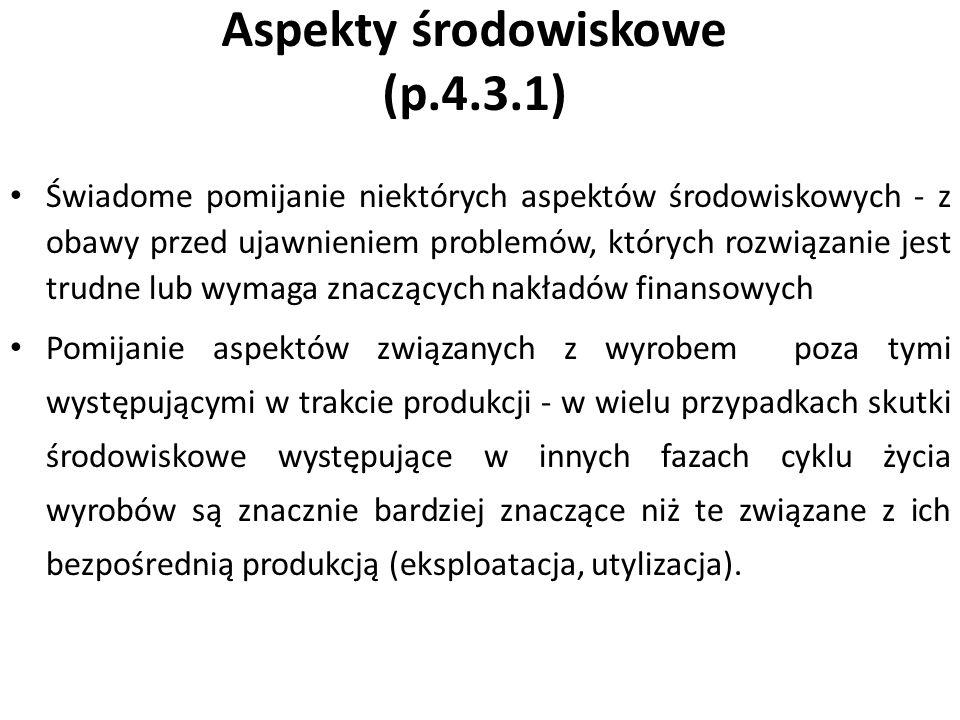 Aspekty środowiskowe (p.4.3.1)