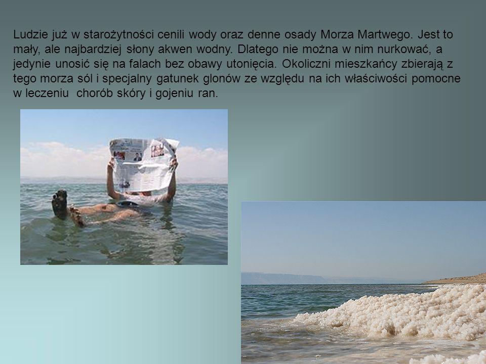 Ludzie już w starożytności cenili wody oraz denne osady Morza Martwego