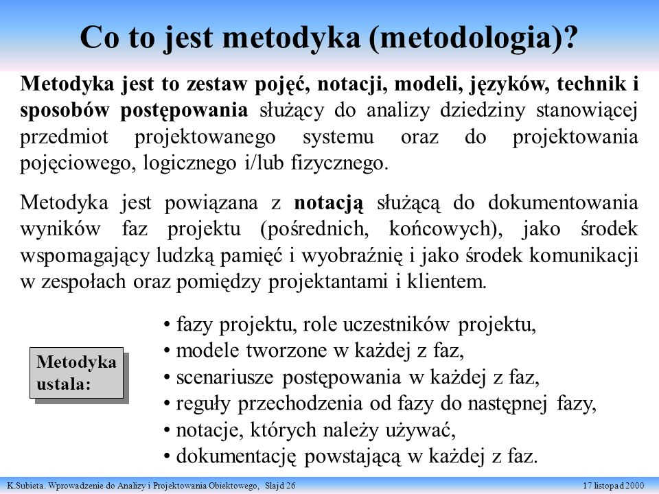 Co to jest metodyka (metodologia)