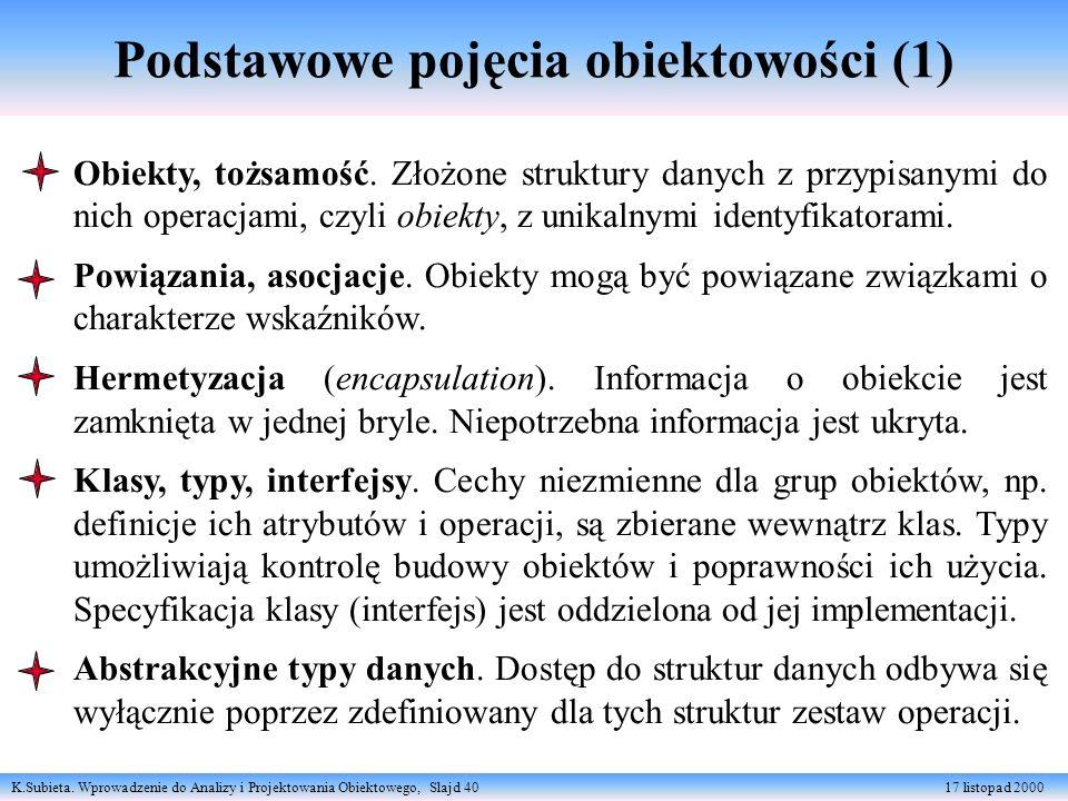 Podstawowe pojęcia obiektowości (1)