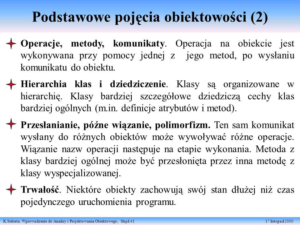 Podstawowe pojęcia obiektowości (2)