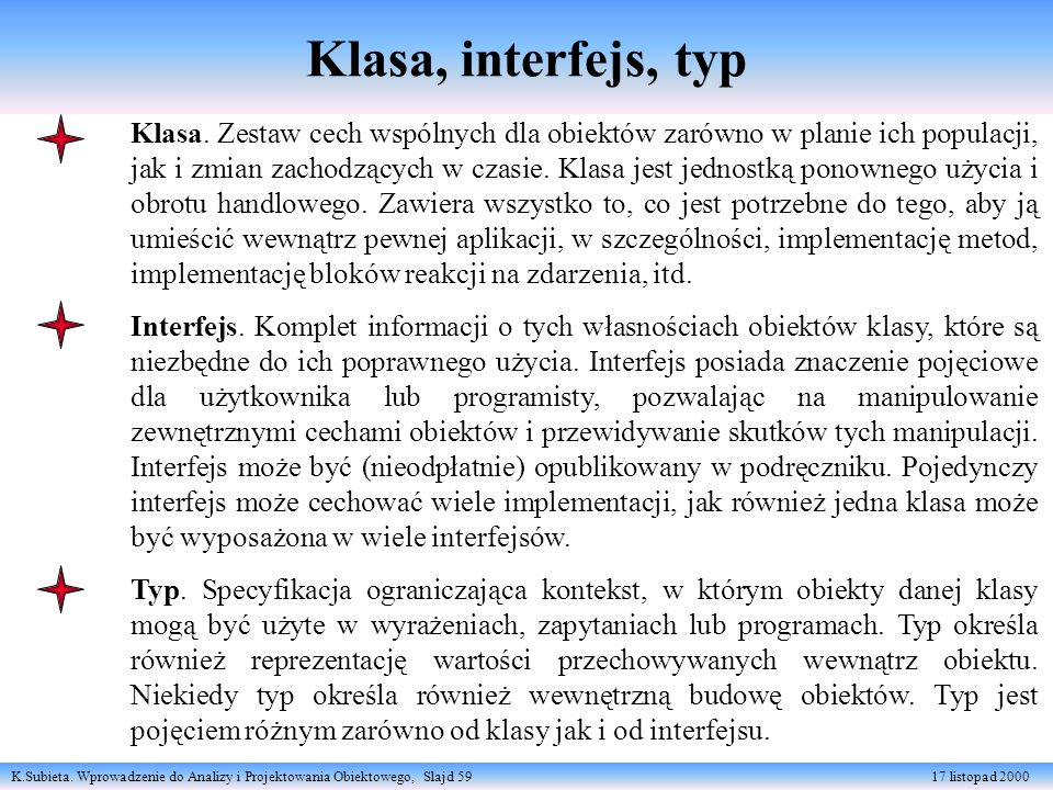 Klasa, interfejs, typ