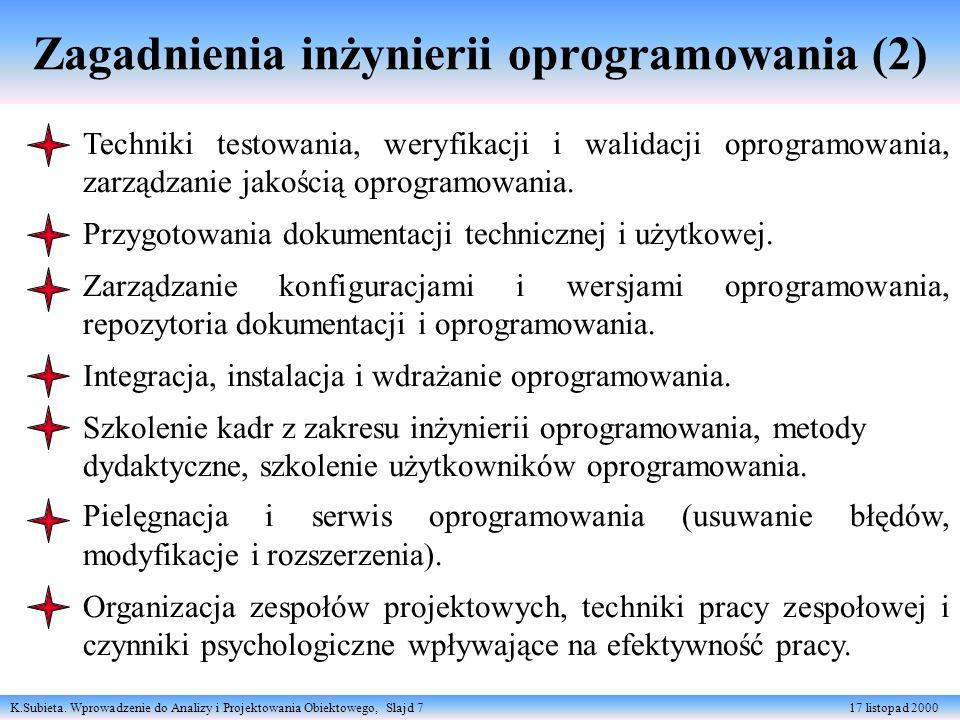 Zagadnienia inżynierii oprogramowania (2)