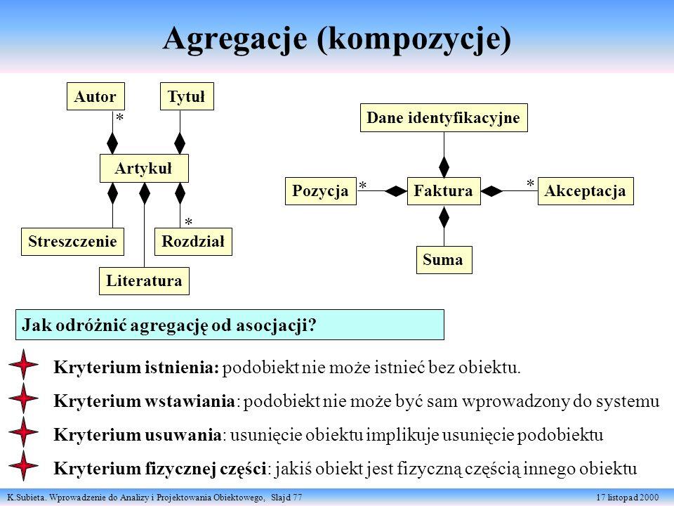 Agregacje (kompozycje)