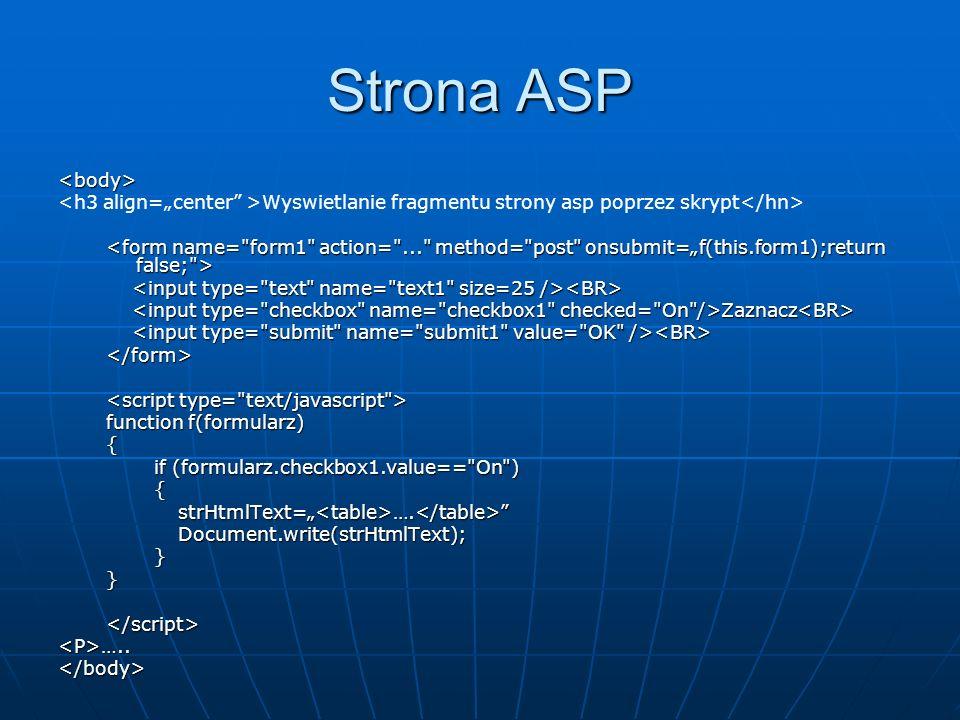 Strona ASP <body>