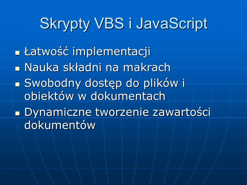 Skrypty VBS i JavaScript