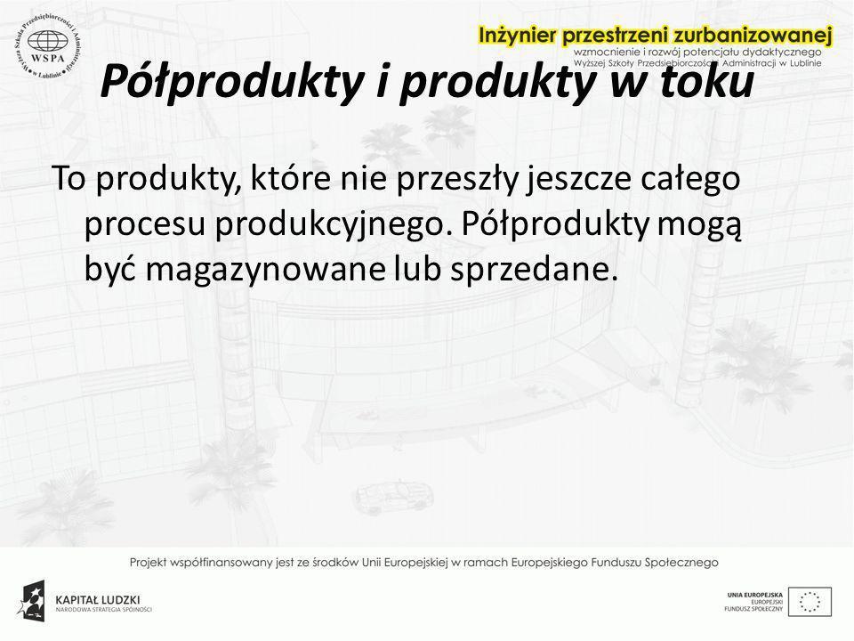 Półprodukty i produkty w toku