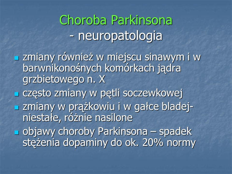 Choroba Parkinsona - neuropatologia