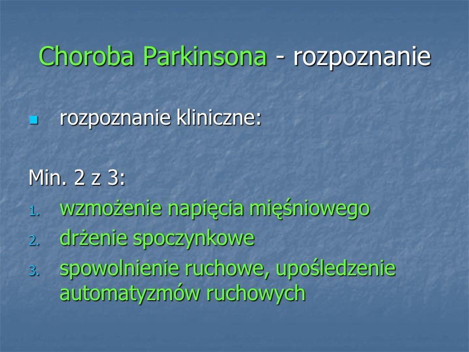 Choroba Parkinsona - rozpoznanie