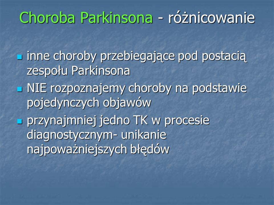 Choroba Parkinsona - różnicowanie