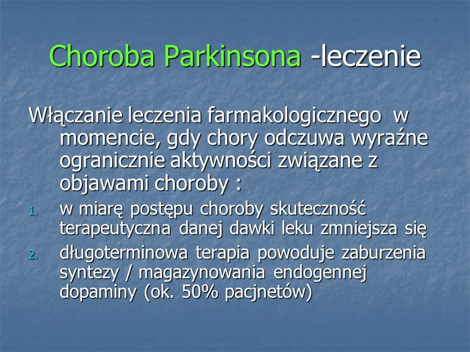 Choroba Parkinsona -leczenie