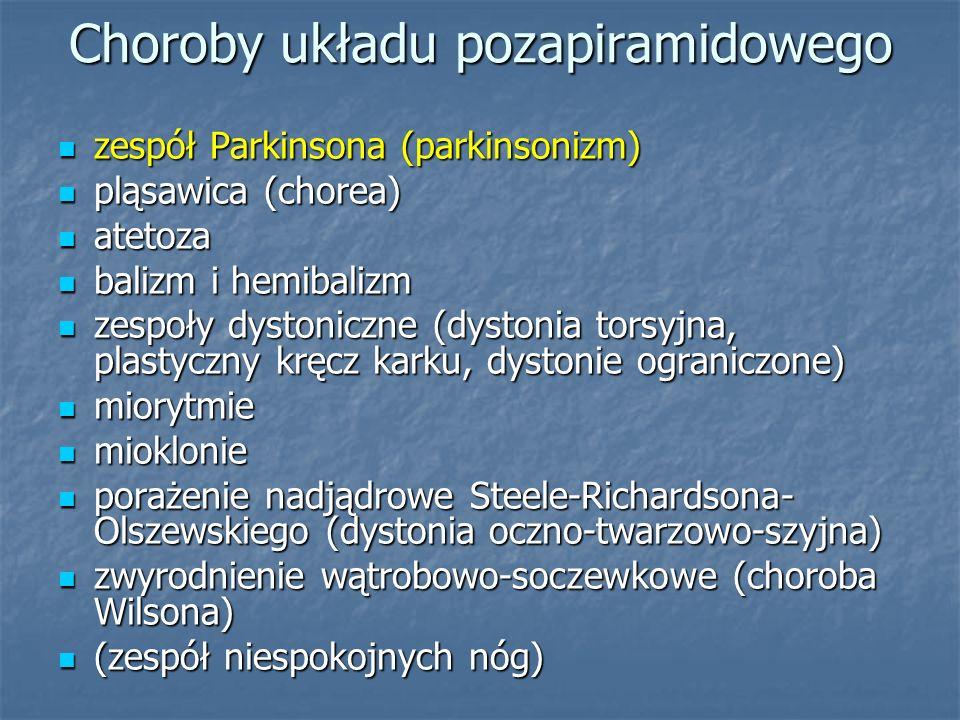 Choroby układu pozapiramidowego