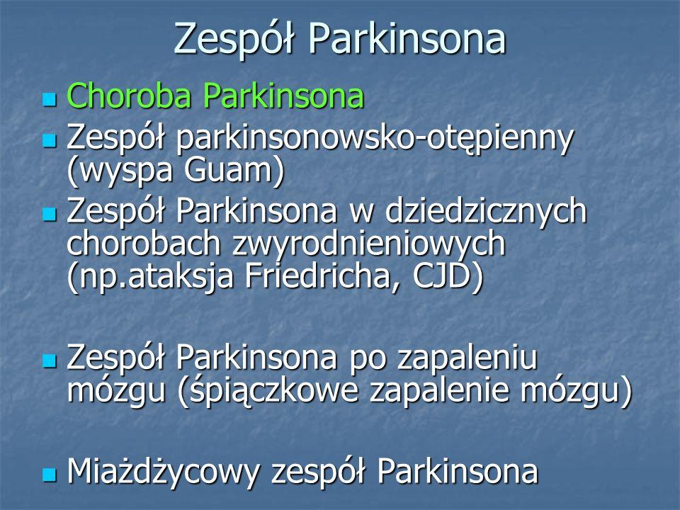 Zespół Parkinsona Choroba Parkinsona