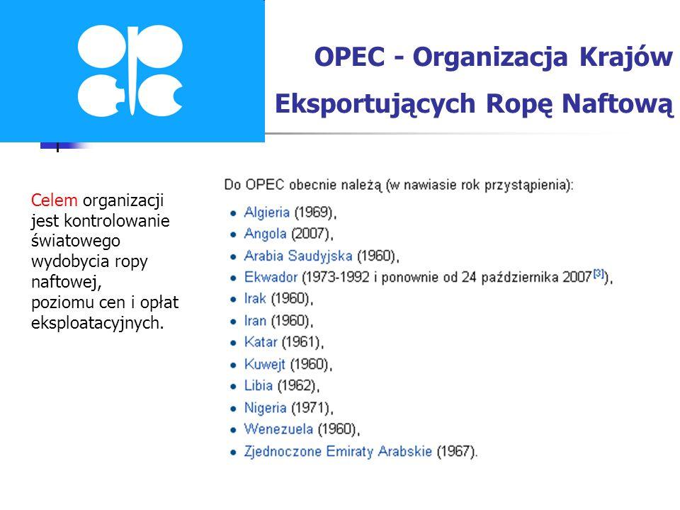 OPEC - Organizacja Krajów Eksportujących Ropę Naftową
