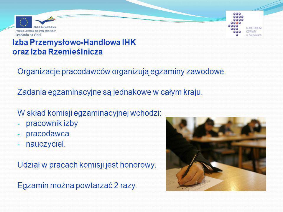 Izba Przemysłowo-Handlowa IHK oraz Izba Rzemieślnicza