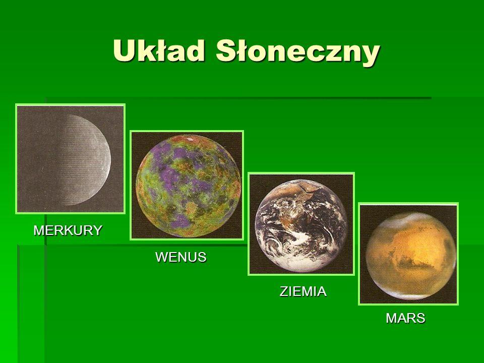 Układ Słoneczny MERKURY WENUS ZIEMIA MARS