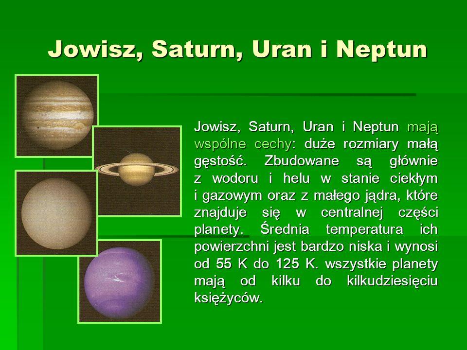 Jowisz, Saturn, Uran i Neptun