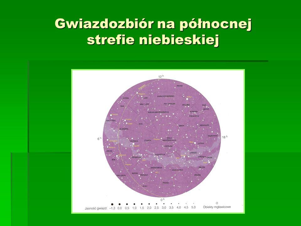 Gwiazdozbiór na północnej strefie niebieskiej