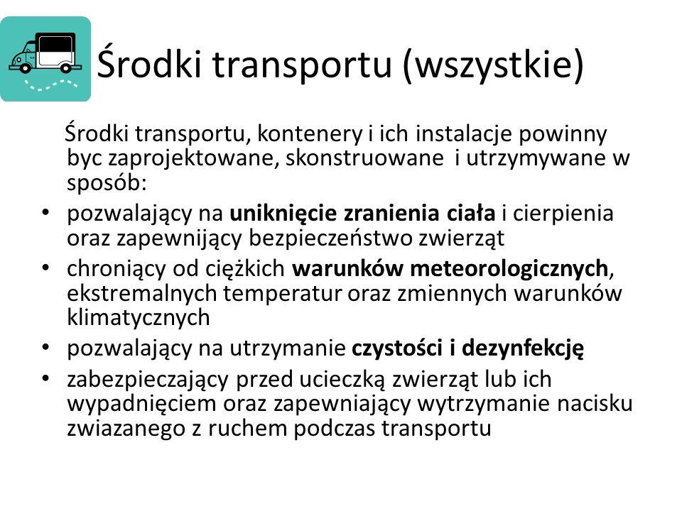 Środki transportu (wszystkie)