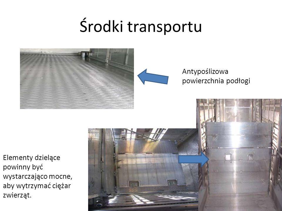 Środki transportu Antypoślizowa powierzchnia podłogi