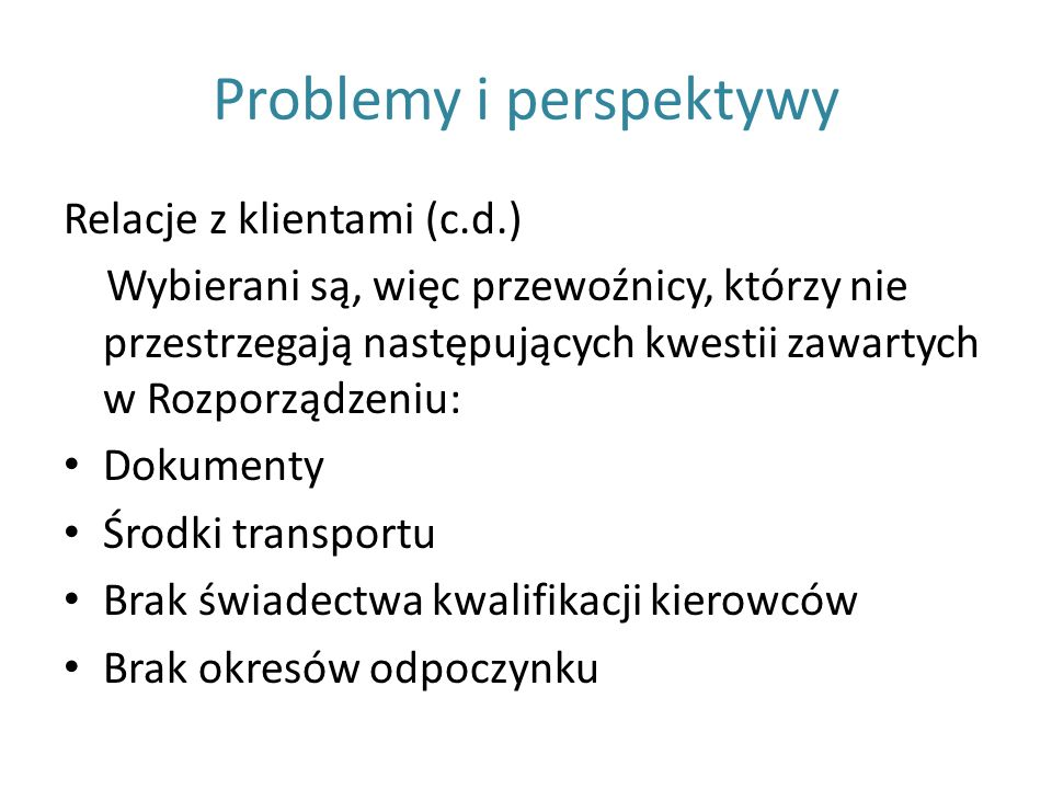 Problemy i perspektywy