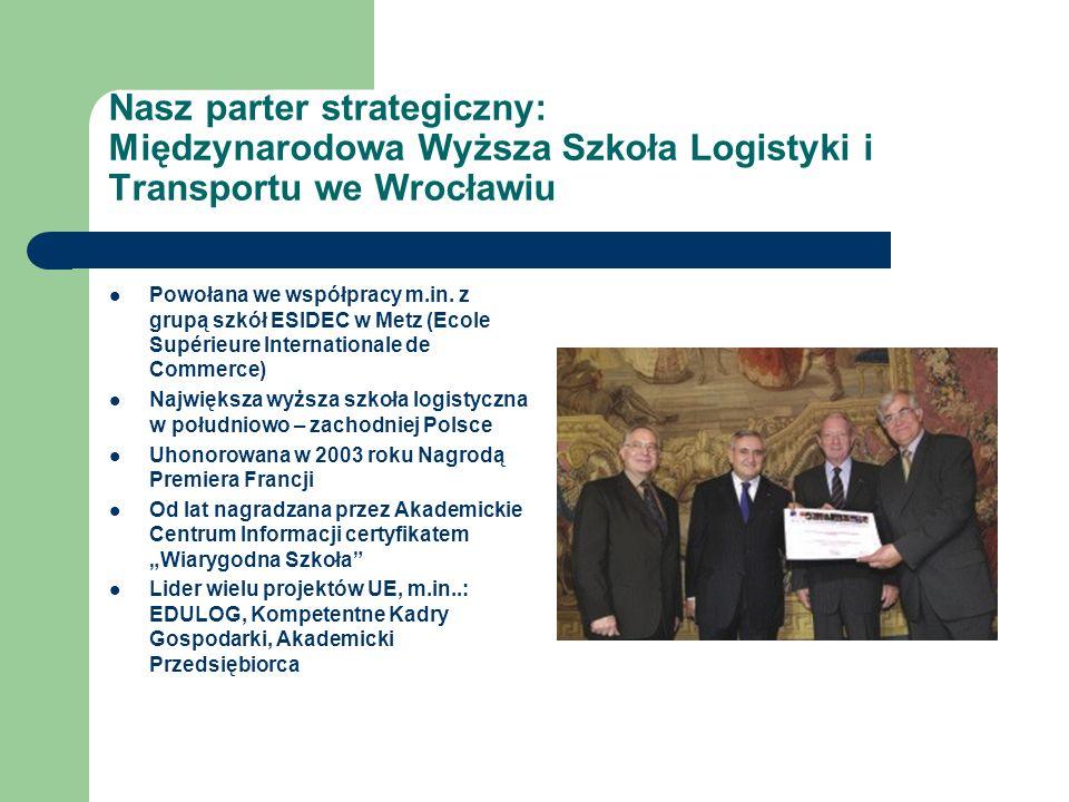 Nasz parter strategiczny: Międzynarodowa Wyższa Szkoła Logistyki i Transportu we Wrocławiu