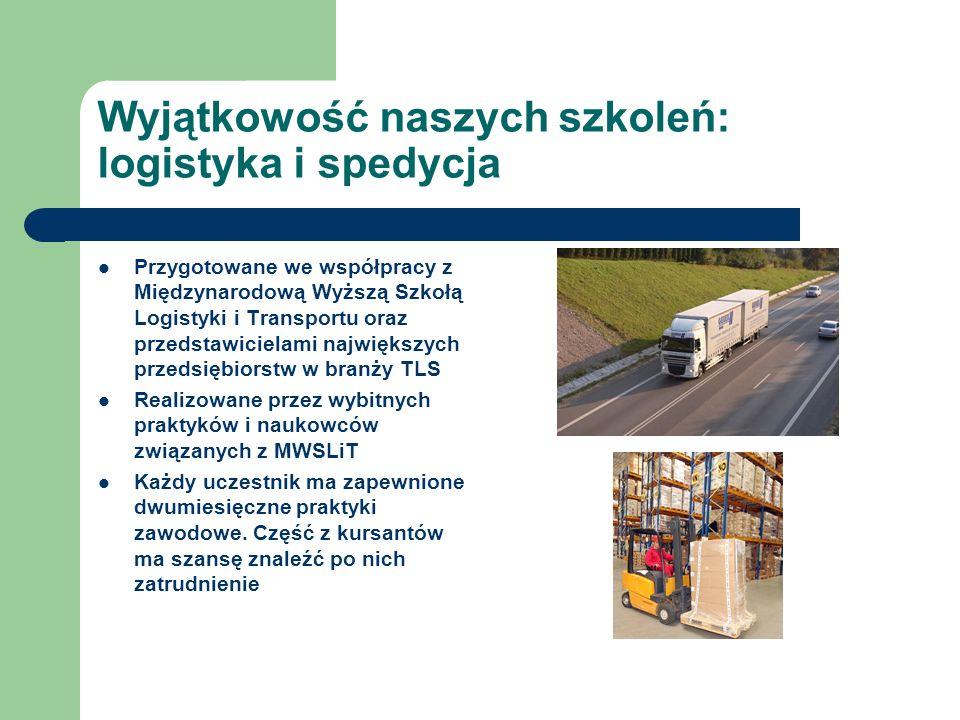 Wyjątkowość naszych szkoleń: logistyka i spedycja