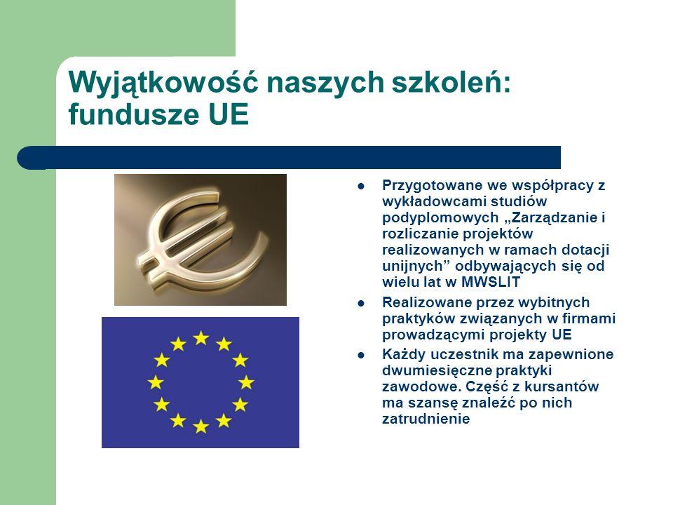 Wyjątkowość naszych szkoleń: fundusze UE