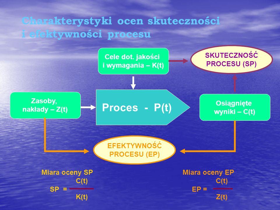 Charakterystyki ocen skuteczności i efektywności procesu