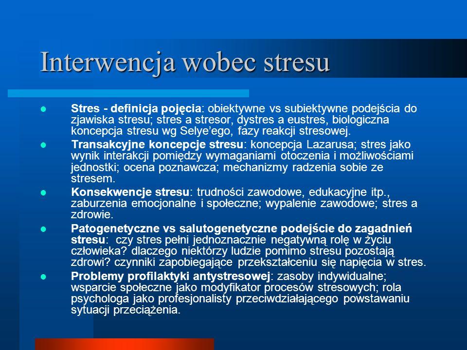 Interwencja wobec stresu