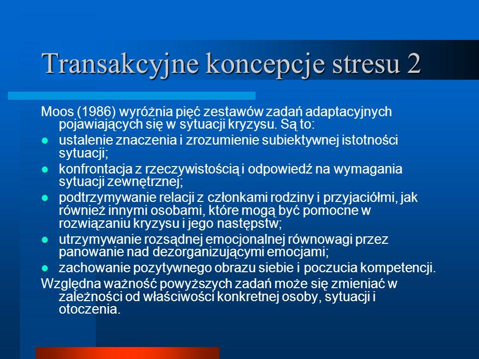 Transakcyjne koncepcje stresu 2