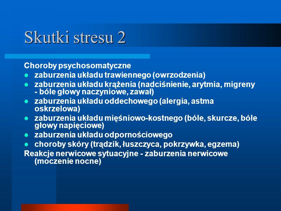 Skutki stresu 2 Choroby psychosomatyczne