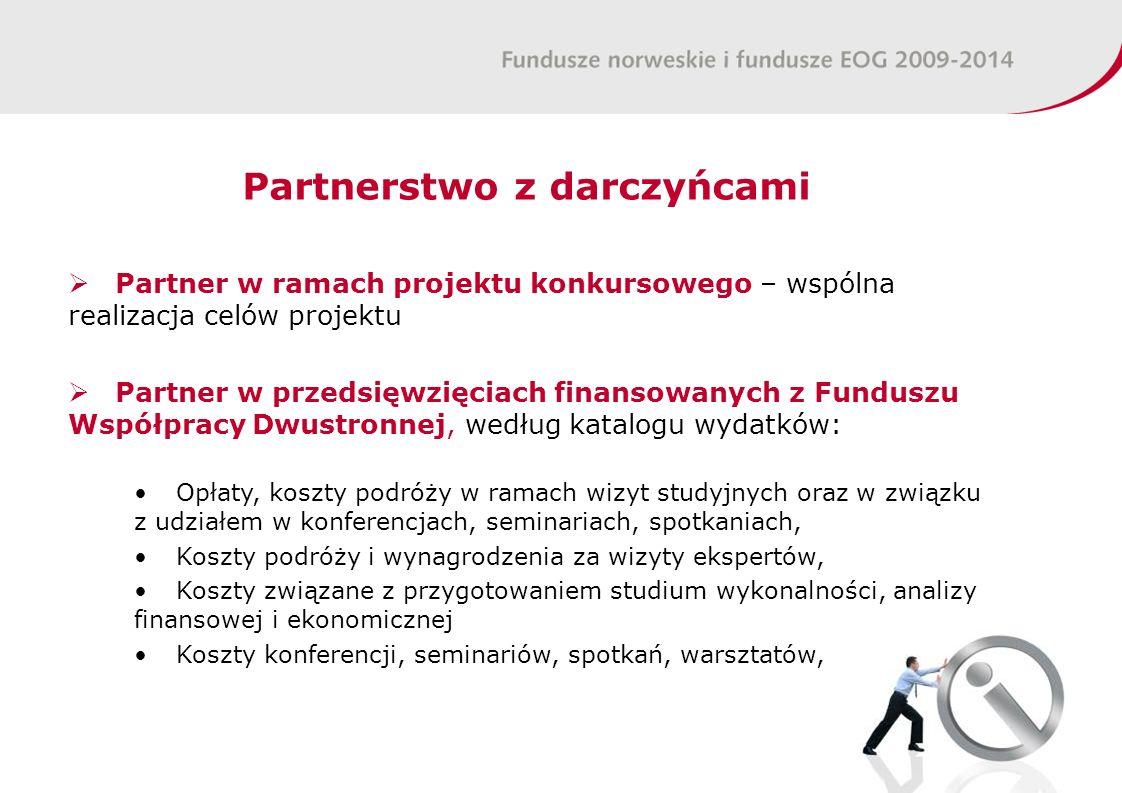 Partnerstwo z darczyńcami