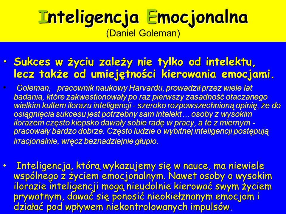 Inteligencja Emocjonalna (Daniel Goleman)