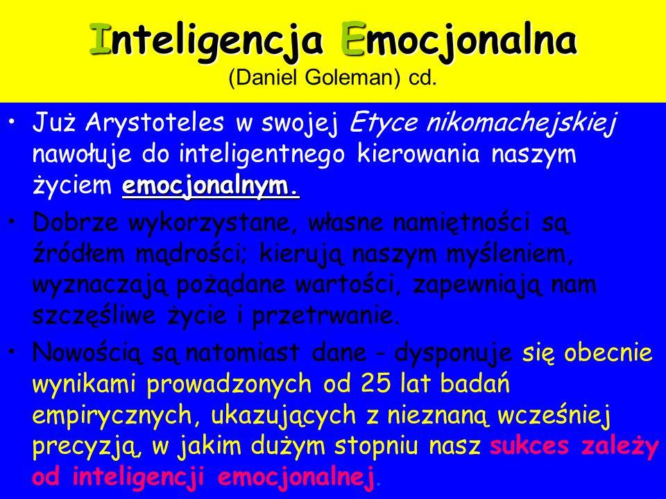 Inteligencja Emocjonalna (Daniel Goleman) cd.