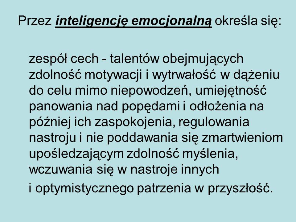 Przez inteligencję emocjonalną określa się:
