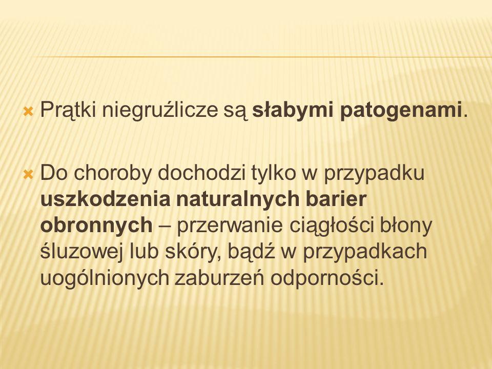 Prątki niegruźlicze są słabymi patogenami.