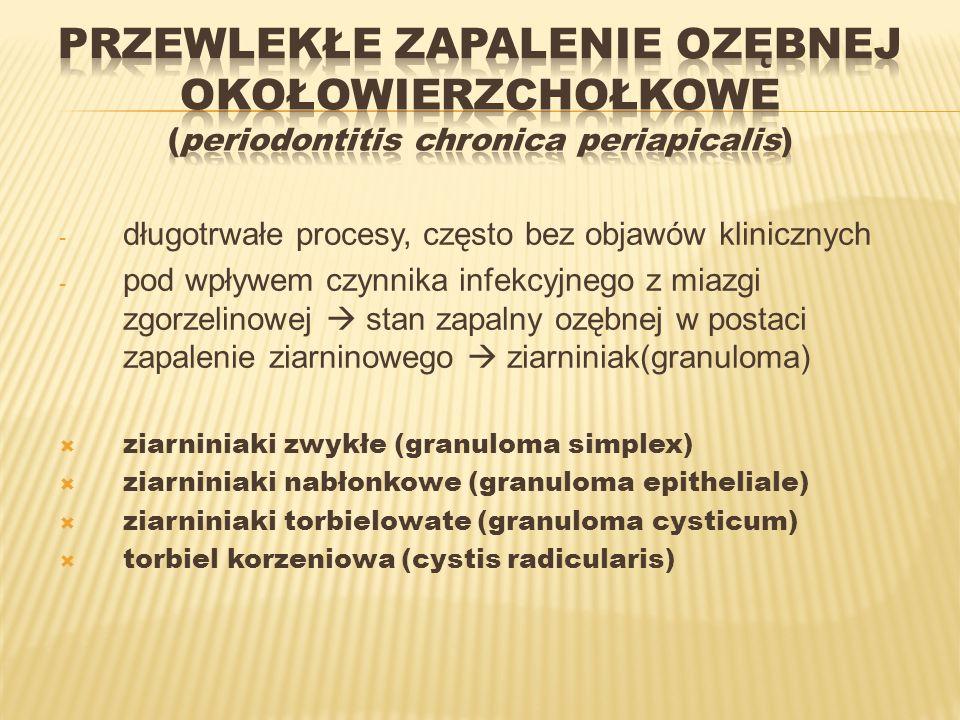 Przewlekłe zapalenie ozębnej okołowierzchołkowe (periodontitis chronica periapicalis)